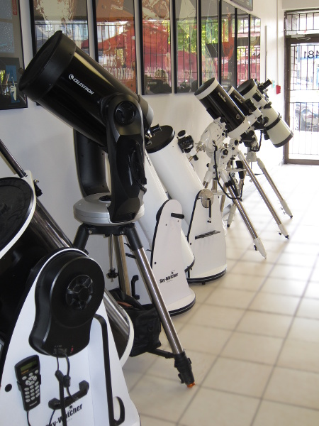 various telescopes in store